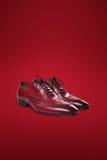 De donkere schoenen van het mensensuède Royalty-vrije Stock Foto