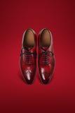 De donkere schoenen van het mensensuède Stock Foto's