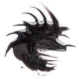 De donkere steekproef zilveren van de nagellak (email) vlek Stock Afbeeldingen