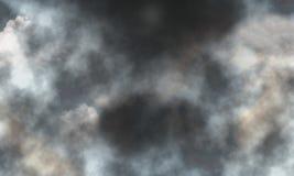 De donkere stormachtige achtergrond van het hemel slechte weer Royalty-vrije Stock Foto