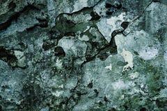 De donkere textuur van de grungemuur Stock Foto's