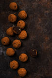 De donkere truffels van de chocoladeavocado Royalty-vrije Stock Foto