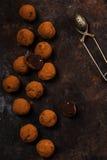 De donkere truffels van de chocoladeavocado Royalty-vrije Stock Foto's