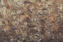 De donkere versleten roestige achtergrond van de metaaltextuur Sjofele elegant Royalty-vrije Stock Foto