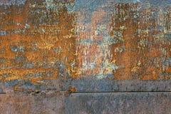 De donkere versleten roestige achtergrond van de metaaltextuur Stock Foto's