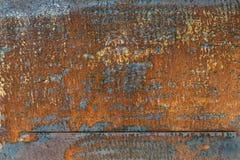 De donkere versleten roestige achtergrond van de metaaltextuur Royalty-vrije Stock Fotografie