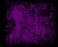 De donkere violette muur van het grunge roestige metaal Stock Foto's