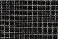 De donkere Weerspiegelende Patronen en de Texturen van het Metaal Vierkante Net Royalty-vrije Stock Afbeelding