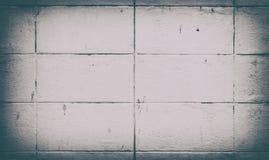 De donkere witte achtergrond van de bakstenen muurtextuur Stock Afbeeldingen