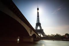 De donkere Zegen van Eiffel Royalty-vrije Stock Afbeeldingen