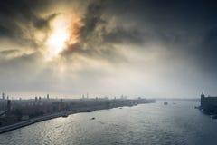 De donkere zon van Venetië Italië Stock Afbeeldingen