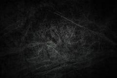 De donkere zwarte gekraste enge grungeachtergrond, oud filmeffect, verontrustte textuur met zwart kader, ruimte voor uw tekst of  stock foto