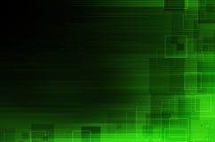 De donkergroene abstracte achtergrond van technologie Royalty-vrije Stock Afbeelding