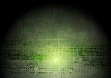 De donkergroene achtergrond van grungetechnologie met geometrisch stock illustratie
