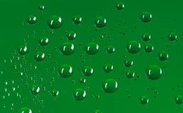 De donkergroene ronde achtergrond van waterdruppeltjes met pixelpatroon Stock Fotografie