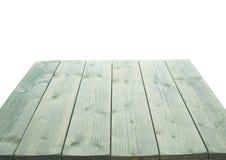 De donkergroene verf bedekte houten raad met een laag Stock Foto's