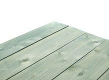 De donkergroene verf bedekte houten raad met een laag Royalty-vrije Stock Foto's
