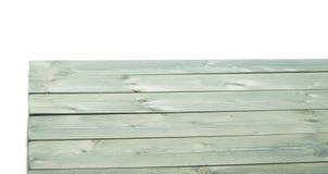 De donkergroene verf bedekte houten raad met een laag Stock Afbeeldingen