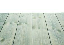 De donkergroene verf bedekte houten raad met een laag Stock Fotografie