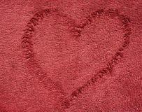 De donkerrode doek van de kleurenhanddoek Royalty-vrije Stock Afbeelding