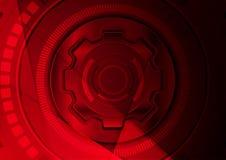 De donkerrode futuristische abstracte achtergrond van technologie Royalty-vrije Stock Fotografie