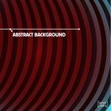De donkerrode Vector abstracte achtergrond van Cirkelstrepen Royalty-vrije Stock Afbeelding