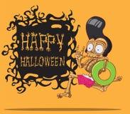 De dood is een skelet. Gelukkig Halloween Royalty-vrije Stock Fotografie