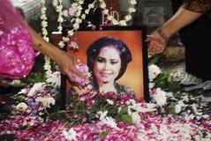 DE DOOD VAN DE HOOGSTE BLIJSPELACTEUR VAN INDONESIË Royalty-vrije Stock Foto's