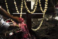 DE DOOD VAN DE HOOGSTE BLIJSPELACTEUR VAN INDONESIË Stock Foto's
