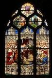 De dood van Louis XIII in aanwezigheid van Saint-Vincent de Paul, Anne van Oostenrijk, toekomstige Louis XIV en HoofdMazarin Royalty-vrije Stock Foto
