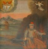 De dood van st Barbara royalty-vrije stock afbeelding