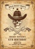 De doodscowboy nodigt malplaatje uit royalty-vrije illustratie