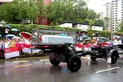 De doodskist van het kanonvervoer M. Lee Kuan Yew Singapore Royalty-vrije Stock Afbeeldingen