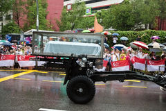 De doodskist van het kanonvervoer M. Lee Kuan Yew Singapore Royalty-vrije Stock Afbeelding