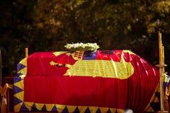 De doodskist van Koningin Anne van Roemenië Stock Foto