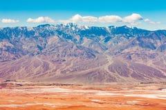 De Doodsvallei NP Californië de V.S. van Panamintbergen Royalty-vrije Stock Fotografie