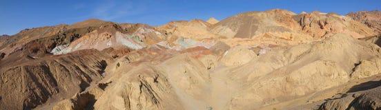 De Doodsvallei van het schilderspalet - Panorama Stock Fotografie