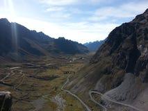 De Doodsweg in Yungas, Bolivië, Zuid-Amerika Royalty-vrije Stock Fotografie