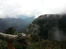 De Doodsweg in Yungas, Bolivië, Zuid-Amerika Royalty-vrije Stock Afbeelding
