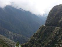 De Doodsweg in Yungas, Bolivië, Zuid-Amerika Royalty-vrije Stock Afbeeldingen