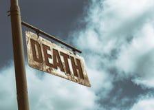 De doodswijnoogst roestte Teken Royalty-vrije Stock Afbeelding