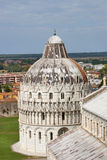 De Doopkapel en kathedraal Duomo, Toscanië, Italië van Pisa Royalty-vrije Stock Afbeeldingen