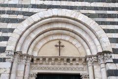 De Doopkapel van de kathedraalkerk, Volterra Royalty-vrije Stock Foto's