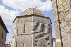De Doopkapel van de kathedraalkerk, Volterra Royalty-vrije Stock Afbeeldingen