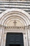 De Doopkapel van de kathedraalkerk, Volterra Stock Foto
