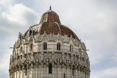 De Doopkapel van Pisa, Italië Stock Fotografie