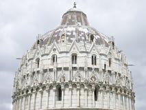 De Doopkapel van Pisa, Pisa, Italië Stock Afbeeldingen