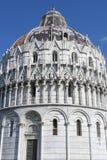 De Doopkapel van Pisa, Toscanië, Italië Stock Foto
