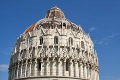 De Doopkapel van Pisa, Toscanië, Italië Royalty-vrije Stock Afbeeldingen