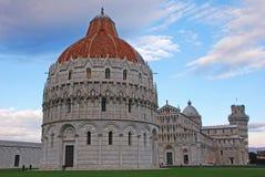 De Doopkapel van Pisa van St John in Pisa Toscanië Italië Royalty-vrije Stock Foto